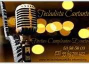 Tecladista cantante fiestas, eventos