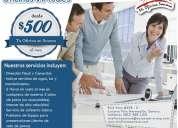 Oficinas virtuales $500 mxn. hermosillo, sonora
