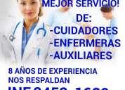 Personal de enfermeria a domicilio y en hospitales cdmx