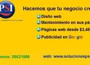 Páginas web, sitios web