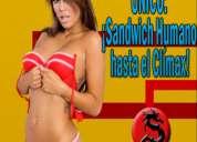 Jueves 22 en csw: ¡sandwich humano hasta el clímax!