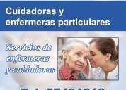 Cuidadores y enfermeras de adultos mayores