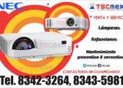 Reparación y mantenimiento a videoproyectores nec en monterrey
