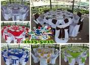 Renta de mesas y sillas para eventos / zona sur