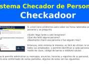 Sistema checador de personal por código de barras y teléfono celular