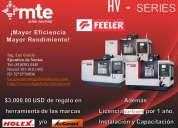 Centros de maquinado de alta precisión y rapidez hv-series de la marca feeler.