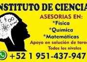 Cursos de matemáticas, asesorías