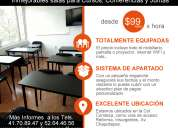 Alquiler de espacios para cursos desde $99