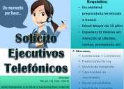 Solicito ejecutivos telefónicos