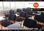 Salas para conferencias desde $99 pesos