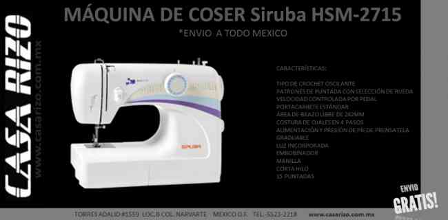 Oferta!!  MÁQUINA DE COSER Siruba HSM-2715