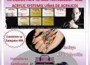 Uñas de acrilico, cursos y aplicacion