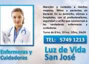Cuidadoras y enfermeras particulares