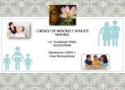 Cuidado de adultos mayores y pequeños