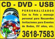 Cd y dvd - recuerdos para eventos desde $15
