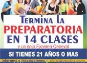 Termina la prepa en 14 clases