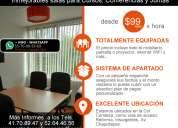Renta de salones para cursos desde $99 pesos col. condesa