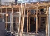 Renta de madera, servicio de cimbra y vaciado de losas