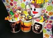tazas rellenas de chocolate listas para regalar