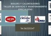 Mantenimiento, reparaciÓn, boilers,calentadores,hesa,calorex,sinsa,lenisco,ge,iusa