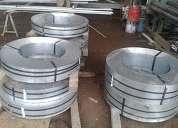 Lamina galvanizada cal. 19, 20, 22 y 23  rollos y cintas