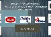 Especialistas,reparacion de boilers y calentadores hesa,calorex,lenisco,cinsa,servicio