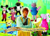 Payasos, peppa pig, minions, olaf, frozen, mickey, minnie mouse, tel 7791100876