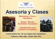 Clases y asesorías de matemáticas, física y estadística