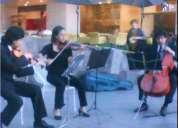 Cuarteto de cuerdas o soprano violin y teclado para bodas