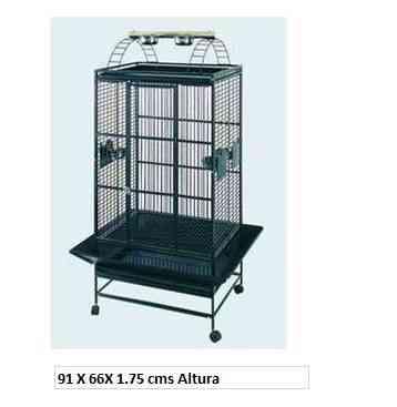 jaula para aves de acero inoxidable