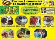 """A tu servicio cocina economica el """"sason de romi"""""""