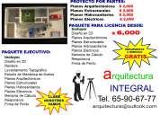 Arquitecto paquete de planos para casa-habitaciÓn $ 6,000
