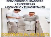 Enfermeras y cuidadores de adultos mayores a domicilio y en hospitales cdmx