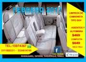 Limpieza de interiores de camionetas
