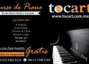 clases de piano zona: cuajimalpa, santa fe, bosques de las lomas