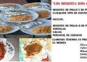 Mixiotes de pollo y cerdo don cesar