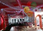 Las mejores decoraciónes con telas y globos