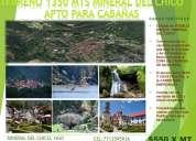 Oportunidad terreno en pueblo magico el chico, 1350 mts, todos los servicios