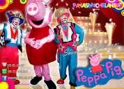 show de payasos con peppa pig - df/edomex