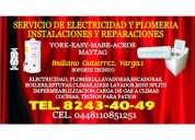Electricidad plomeria reparacion de boilers estufas lavadoras secadoras minisplits