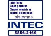 Interfonos.cerraduras y chapas electricas instalaciones y ventas 58562169