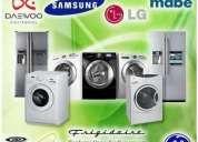 servicios de reparación a refrigeradores.lavadoras.secadoras