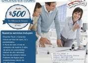 oficinas virtuales en hermosillo son 500 mxn
