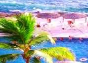 Acapulco **con playa** departamento a la orilla del mar, alberca y super vista