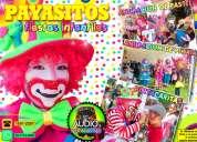 Payasos con animacion de pastel y piÑata para tu fiesta - df/edomex
