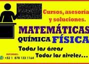 cursos de química y matemáticas. regularización