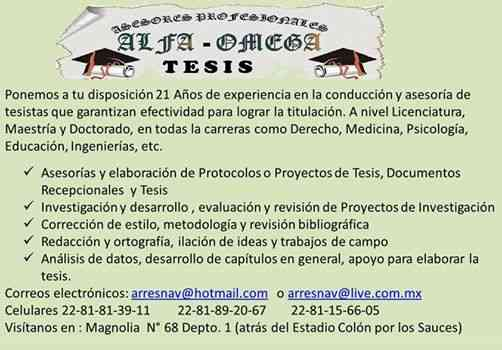 TESIS ALFA-OMEGA Asesores Profesioles