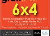 Renta de oficinas virtuales desde 1800 mensuales