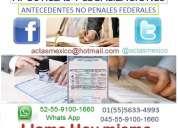 Antecedentes no penales federales, acta de nacimiento mexicanas, apostillas y legalizaciones