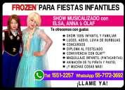 Show de frozen para tu fiesta - cdmx/edomex
